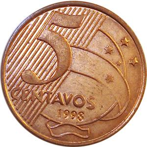 Resultado de imagem para moeda de 5 centavos
